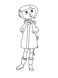 Small Picture Coraline coloring pages Free Printable Coraline coloring pages