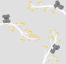 bdecoll funny kaolas wall decals