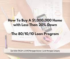 80 10 10 Home Loan 10 Down Jumbo Loan Option Seattle