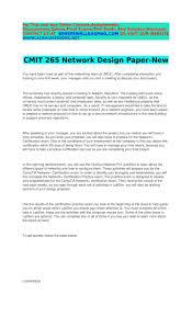 Network Design Paper Cmit 265 Network Design Paper New By Lailaleony Issuu