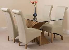 small glass dining table. Image Is Loading Valencia-Small-Oak-160cm-Modern-Glass-Dining-Table- Small Glass Dining Table T