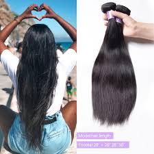 Straight Hair Length Chart Unice Hair Kysiss Series Straight Virgin Hair 3 Bundles With Lace Frontal Closure