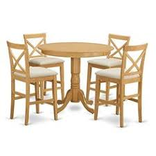east west furniture ton 5 piece high cross dining table set as shown
