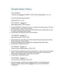 salary history letter 46 fresh cover letter including salary requirements template free