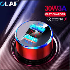 <b>OLAF 30W 3A</b> Quick Charge 3.0 USB Car Charger for iphone 11 ...
