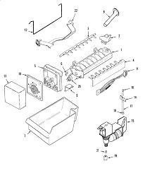 Maytag model ptb2454grb top mount refrigerator genuine parts