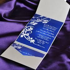 blue elegant floral swirl damask with grey pocket affordable Printable Wedding Invitation Kits Purple Printable Wedding Invitation Kits Purple #43 Printable Wedding Invitation Templates Blank