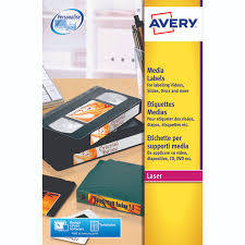 U Avery White Laser Print Video Face Label 76x46mm Pack Of 300 L767125