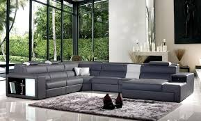 contemporary leather sectional sofa with color options