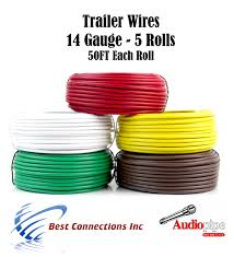 trailer light cable wiring for harness 50ft spools 14 gauge 5 wire click thumbnails to enlarge