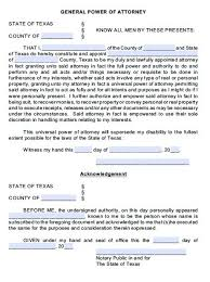 free general power of attorney texas