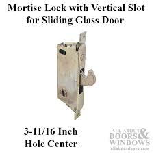 adams rite mortise lock vertical slot sliding patio door angled steel