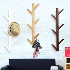 wall rack with hooks 6 hooks vintage bamboo wooden hanging coat hook hanger branch shape clothes