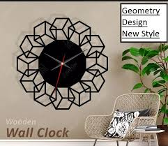 room clock wall art bedroom decor w119