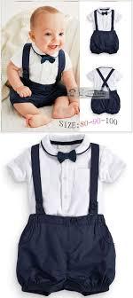 Summer Baby Clothing Cotton 2pcs Suit Short Infant Boy Gentleman