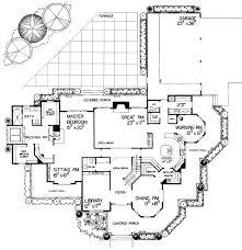 Magnificent Victorian Estate Home Plan   W   st Floor Master    Floor Plan