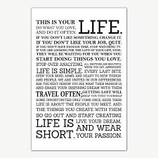Life Quotes Posters Gorgeous This Is Your Life Quotes Poster Art Motivational Posters For Room