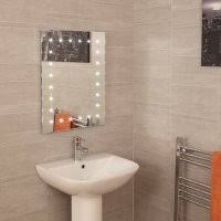 bathroom mirror with lights. ceramica battery powered rectangular led mirror with 24 leds bathroom lights