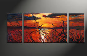 clever sunset wall art designing inspiration triptych red canvas ocean oil paintings home decor 3 piece photo artwork large set of on sunset wall art canvas with clever sunset wall art designing inspiration triptych red canvas