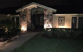 outdoor lighting effects. we hide the light sources from viewing areas focusing on lighting effects rather than resulting in dramatic results outdoor t