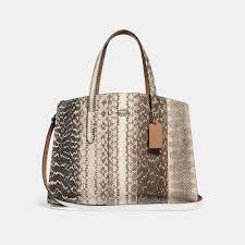 Snakeskin Designer Bags Charlie Carryall In Ombre Snakeskin In 2019 Used Designer