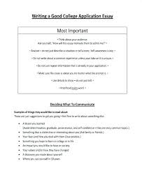 Common App Essays Examples College Application Essay Examples Format