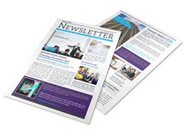 business services template creative business newsletter template