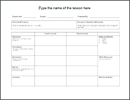 Lesson Plans Formats Elementary Marzano Lesson Plan Template Lesson Plan Format For Kindergarten