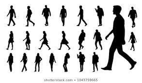 シルエット 女性 仕事 歩くのイラスト素材画像ベクター画像