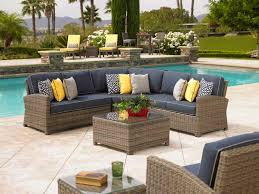 patio outdoor sectional small outdoor sectional deep dark grey cushioned modular l shaped wicker