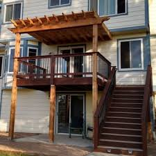 photo of denver decks arvada co united states timbertech deck with cedar