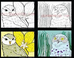 Coloring Page 2 Owl Coloring Pages Printable Coloring Page Etsy