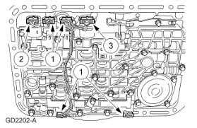 ranger automatic transmission the valve body shifting solenoid install the main control valve body wire loom