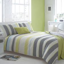 grey and green striped bedding designs