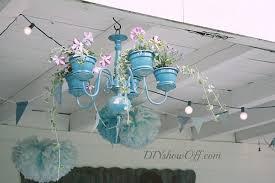 decorative chandelier planter