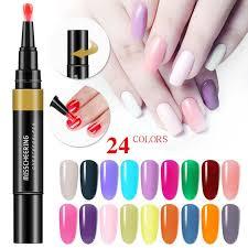 3 in 1 gel nail varnish pen glitter one