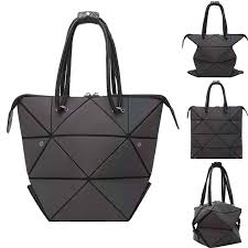 Japanese Designer Bag Geometric Geometric Handbag For Women Changeable Shape Luminous Top Handle Satchel Holographic Shoulder Bag