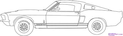 muscle cars drawings.  Cars Colorful Pictures Of Muscle Cars  Howtodrawa67fordshelbymustanggt500step6   Mes Photos  In Muscle Cars Drawings M