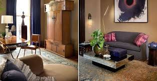 persian khorassan rug with grey sofa interior design by glenn gissler nazmiyal