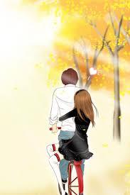 cute couple cartoon wallpaper