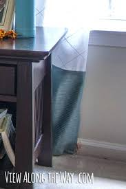 back against the wall tab sew fabric to the bottom of curtain panels to make them