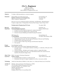 Intern Resume Examples Civil Engineer Intern Resume Sample Resume For Internship In Civil 85