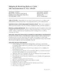 Shipping And Receiving Resume Impressive Shipping And Receiving Manager Resume Warehouse Discrepancy Report
