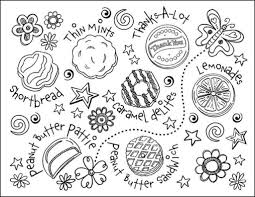 Small Picture Girl Scout Cookies Coloring Pages intended for Current Home Cool