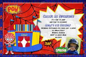 spiderman inspired invitation superhero bounce house digital spiderman inspired invitation superhero bounce house digital file 128270zoom