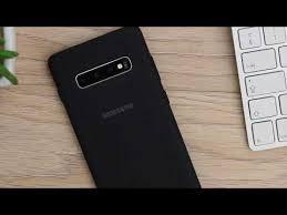 <b>Чехол</b>-накладка <b>Samsung Silicone Cover</b> Black для S10, Note 10+ ...