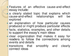 cause and effect essay writing  5  features of an effective cause and effect essay