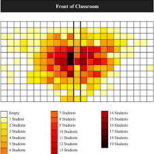 Normalized Seating Chart Showing The Density Of Students