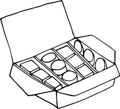 Tablette De Chocolat Coloriage Dessincoloriage