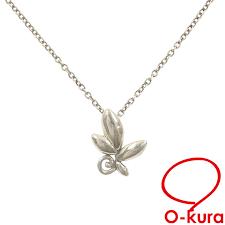 tiffany olive leaf necklace lady s sv925 1 4 g tiffanyco silver leaf pendant paloma